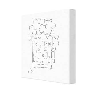 "Japanese ASCII Art ""beer"" Canvas Print"