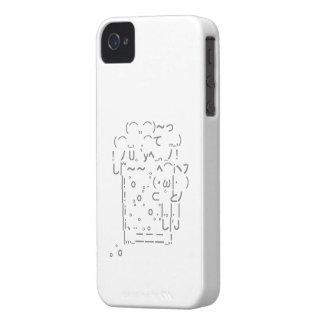 "Japanese ASCII Art ""beer"" (gray) iPhone 4 Cover"