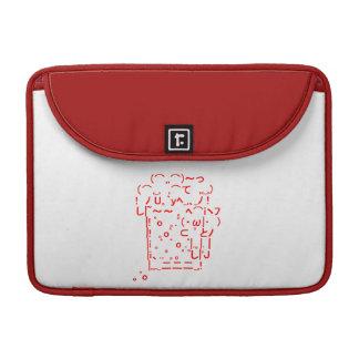 Japanese ASCII Art「beer」 Sleeves For MacBook Pro