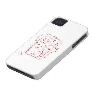 "Japanese ASCII Art ""beer"" (red) iPhone 4 Case"