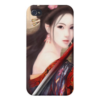 Japanese Asian Geisha Anime 1 iPhone 4 Cover