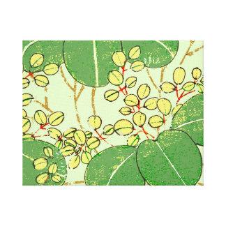 Japanese Asian Leaves Art Print Floral Design