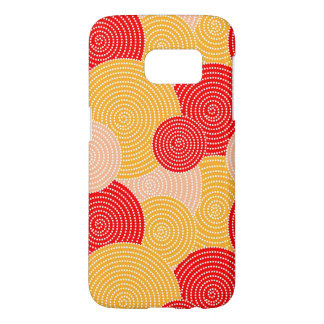 Japanese autumn circle dots kimono samsung galaxy s7 case