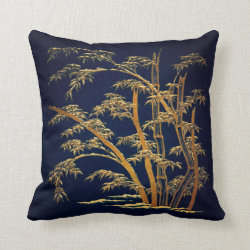 Japanese Bamboo Grove Throw Pillow