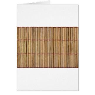 Japanese Bamboo Mat Card