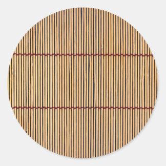 Japanese Bamboo Mat Classic Round Sticker