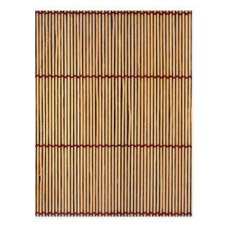 Japanese Bamboo Mat Postcard