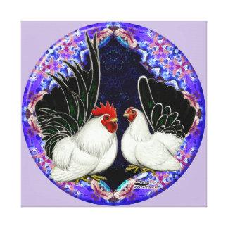 Japanese Bantam Circle Canvas Print