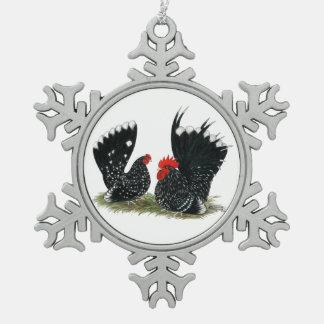 Japanese Bantams Mottled Ornament