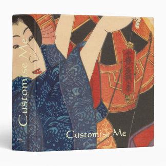 Japanese Beauty airs colourful garments 3 Ring Binder