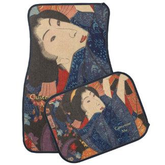 Japanese Beauty airs colourful garments Car Mat