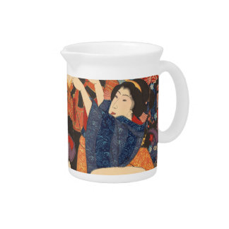 Japanese Beauty airs colourful garments Drink Pitcher