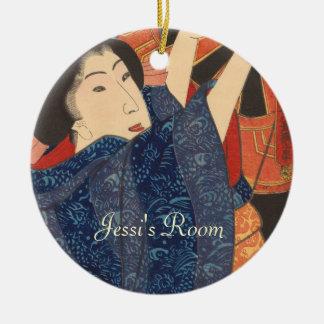Japanese Beauty airs colourful garments Christmas Ornament