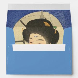 Japanese Beauty At the Bathouse Envelope