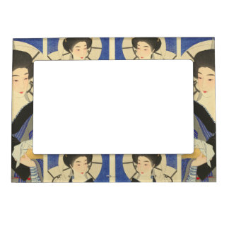 Japanese Beauty At the Bathouse Magnetic Photo Frames