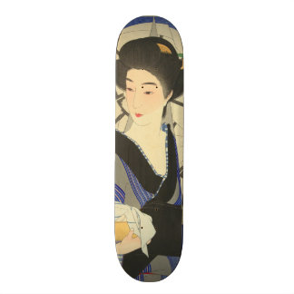 Japanese Beauty At the Bathouse Skate Deck