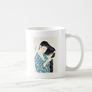 Japanese Beauty Combing Her Hair Coffee Mugs