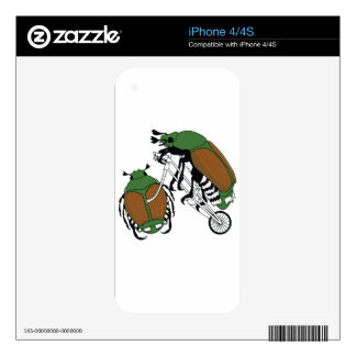 Japanese Beetle Riding Bike/ Japanese Beetle Wheel Skin For iPhone 4S