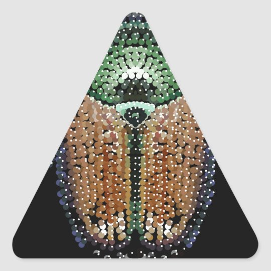 Japanese Beetle Triangle Sticker