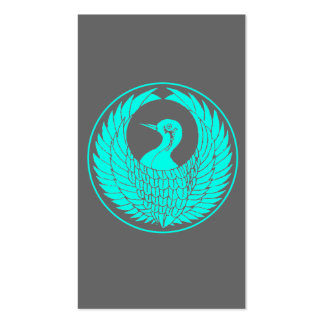 Japanese bird crest business card