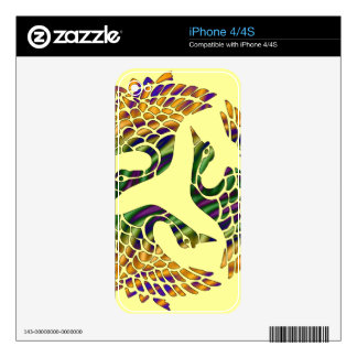 JAPANESE BIRDS DESIGN Phone Skin Decals For The iPhone 4