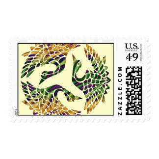 JAPANESE BIRDS DESIGN Stamps