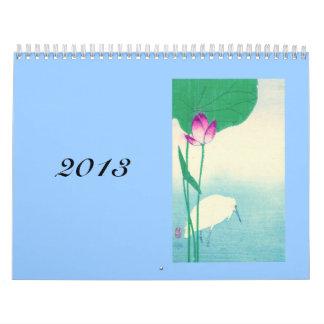 Japanese Birds, Trees and Flowers Calendar