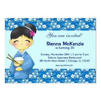 "Japanese Birthday theme 5"" X 7"" Invitation Card"