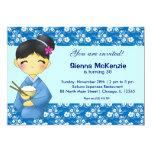 Japanese Birthday theme 5x7 Paper Invitation Card
