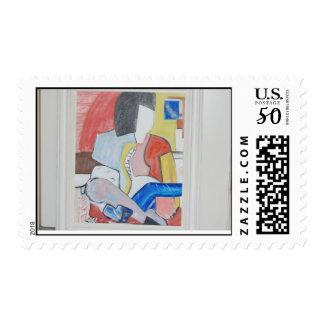 Japanese Block Art  Life is Tangled Postage