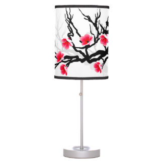 Japanese Blossom Branch Table Lamp