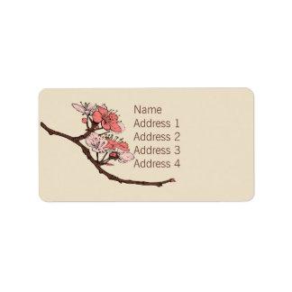 Japanese Blossom Personalized Address Label