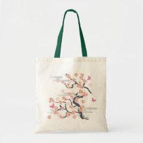 illustration, japan, japanese, ninja, samurai, sakura, nippon, asia, cherry-blossom, graphic, flower, vintage, fujiya, art, oriental, pink, pop, cute, pretty, blossom, china, chinese, Bag with custom graphic design