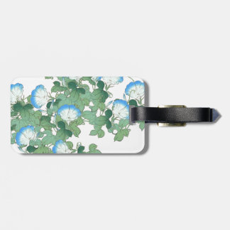 Japanese Blue Morning Glory Flower Floral Tag