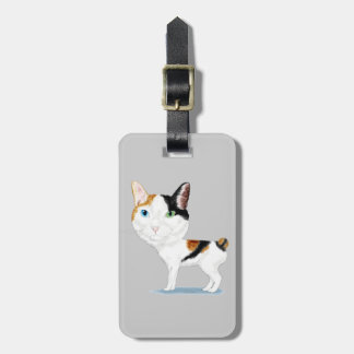 Japanese Bobtail Caricature Tag For Bags