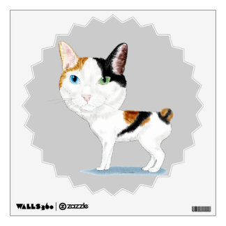 Japanese Bobtail Caricature Wall Decal