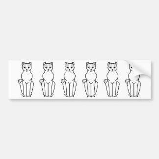 Japanese Bobtail Cat Cartoon Bumper Sticker