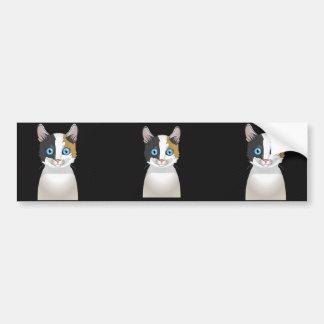 Japanese Bobtail Cat Cartoon Paws Bumper Sticker