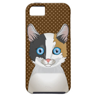 Japanese Bobtail Cat Cartoon Paws iPhone 5 Cover