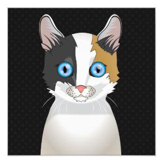 Japanese Bobtail Cat Cartoon Paws Photo Print