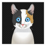 Japanese Bobtail Cat Cartoon Paws Photographic Print