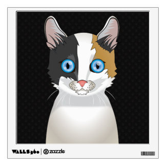 Japanese Bobtail Cat Cartoon Paws Wall Sticker