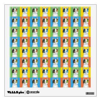 Japanese Bobtail Cat Cartoon Pop-Art Wall Sticker