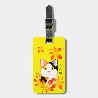 Japanese Bobtail Cat Customizable Kanji Trip Tag Travel Bag Tags