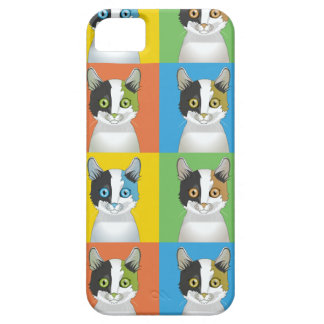Japanese Bobtail Cat Pop-Art iPhone 5 Covers