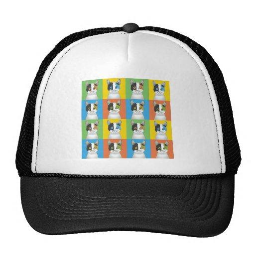 Japanese Bobtail Cat Pop-Art Hat