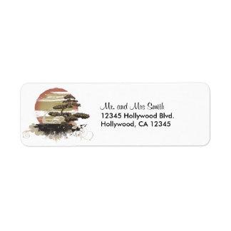 Japanese Bonsai Custom Return Address Label