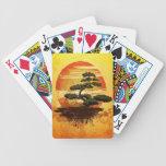 Japanese Bonsai Tree Sunset Bicycle Playing Cards
