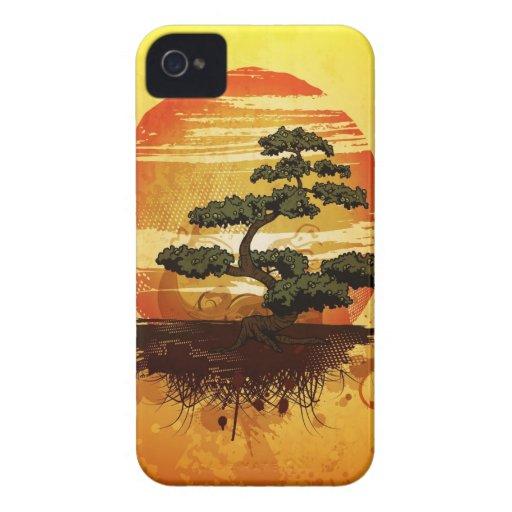 Japanese Bonsai Tree Sunset Case-Mate iPhone 4 Cases