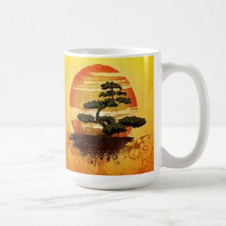 Japanese Bonsai Tree Sunset Coffee Mug